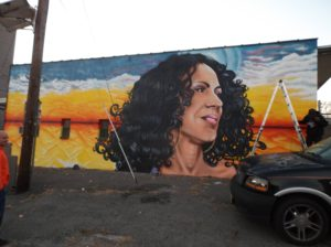 Hometown Girl Mural by Albertus Joseph in Perth Amboy