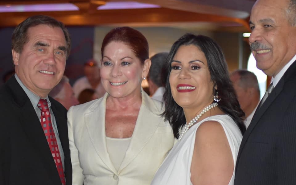 Mayor Diaz and her husband Greg Diaz at her Birthday Party on the Cornucopia with Assemblywoman Yvonne Lopez and Assemblyman Craig Caughlin