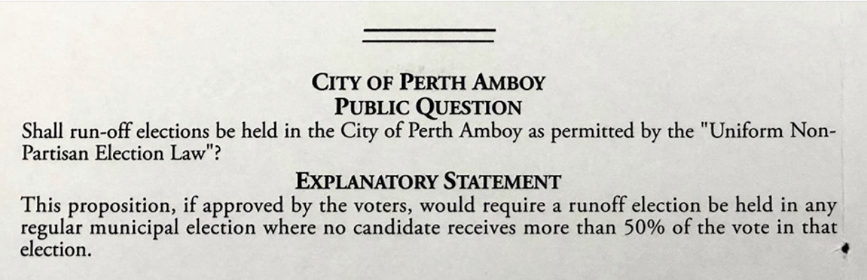 City of Perth Amboy Question