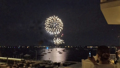 Fireworks over Raritan Bay