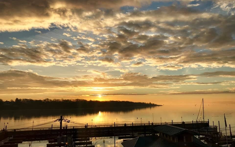 Sunrise at Perth Amboy Marina