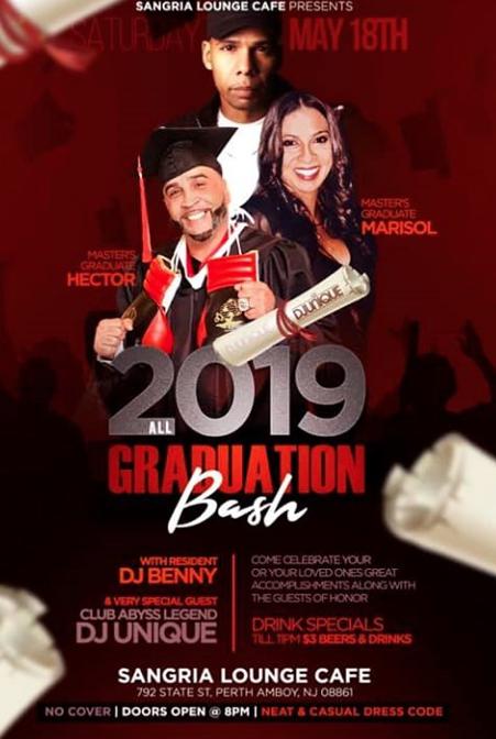 Sangria Lounge Graduation Bash