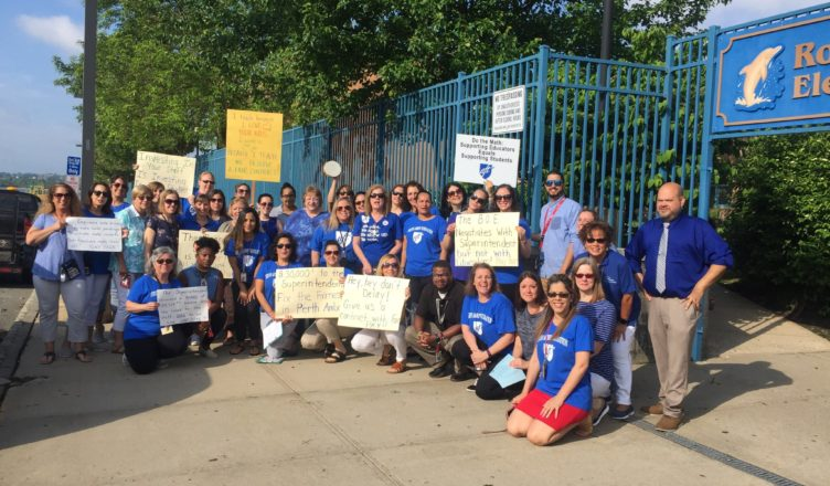Perth Amboy school staff rally for a fair contract