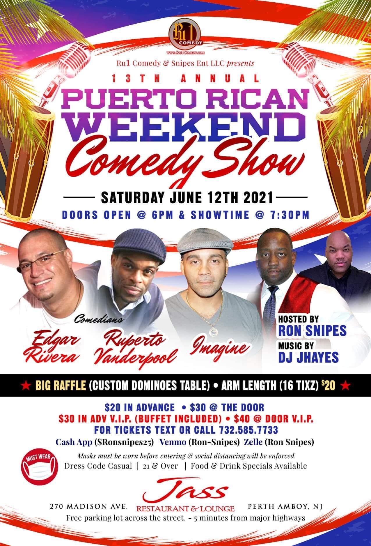 Puerto Rican Weekend Comedy Show