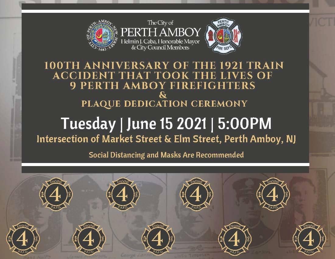 Perth Amboy Fire Department Memorial Ceremony