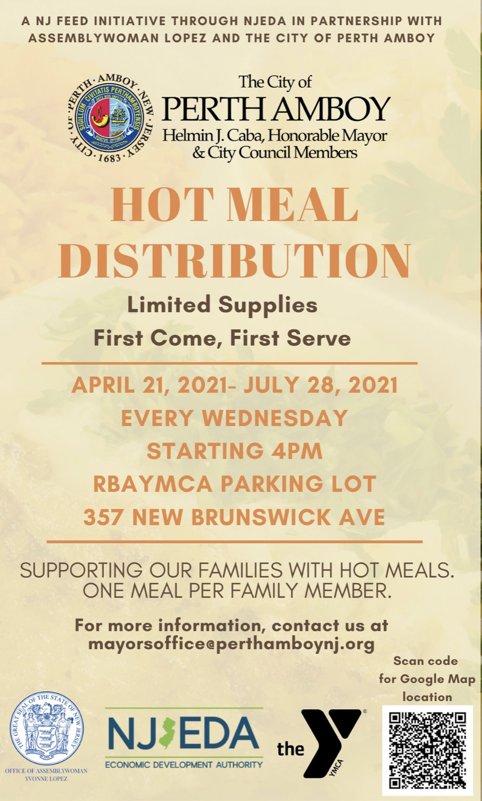 Perth Amboy Free Hot Meal Distribution