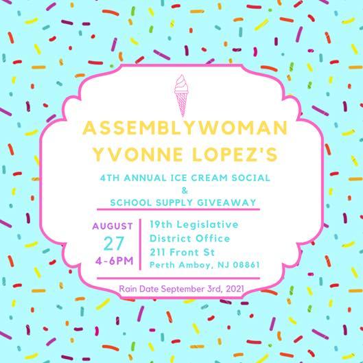 Assemblywoman Lopez Ice Cream Social
