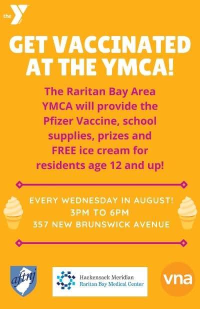 Get vaccinated at the Raritan Bay YMCA