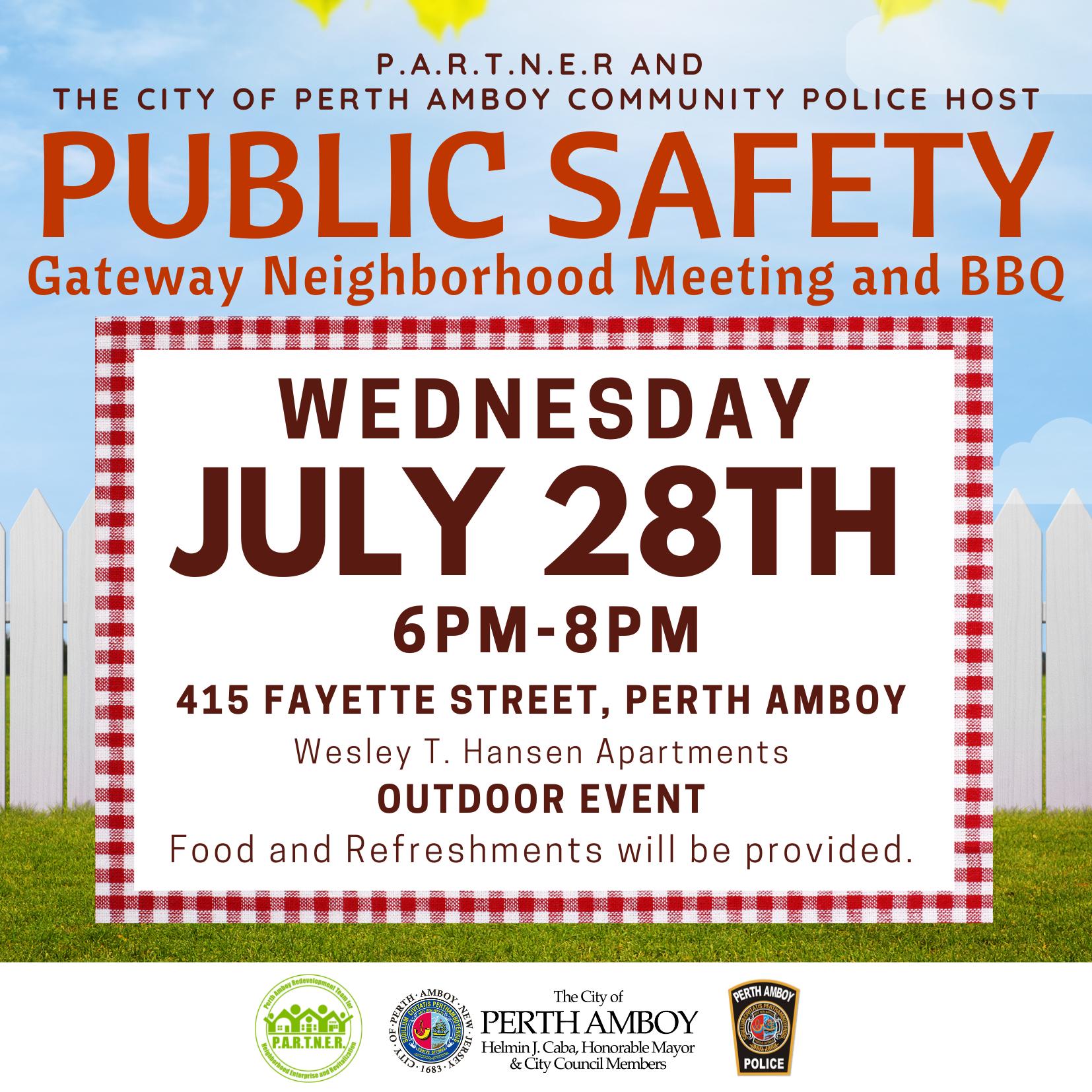 Perth Amboy Public Safety BBQ